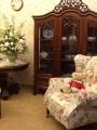 展示櫃+法式主人椅