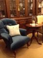 大書櫃+絨布單椅