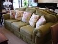 素綠織邊沙發