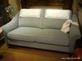 瑞珈素色藍沙發